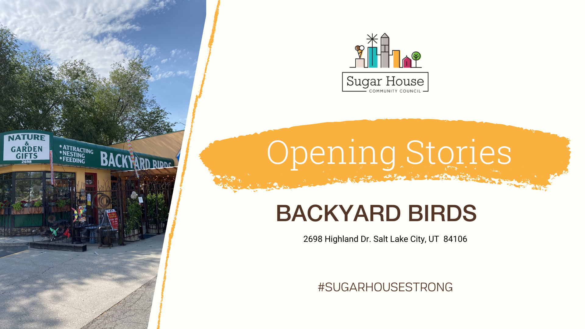 Sugar House Business: Backyard Birds - Sugar House ...